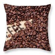 Coffee Beans Throw Pillow