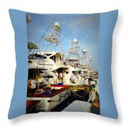 Coffee Boats Throw Pillow