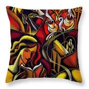 Coffee Break Throw Pillow by Leon Zernitsky