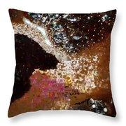 Coffee Bubbles 4 Throw Pillow