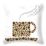 Coffee Cup Throw Pillow by Aged Pixel