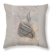 Coffee Cup Detail Throw Pillow