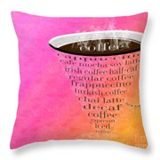 Coffee Cup The Jetsons Sorbet Throw Pillow