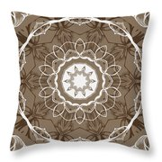 Coffee Flowers 1 Ornate Medallion Throw Pillow