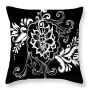 Coffee Flowers 10 Throw Pillow