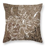 Coffee Flowers 11 Throw Pillow