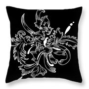 Coffee Flowers 11 Bw Throw Pillow