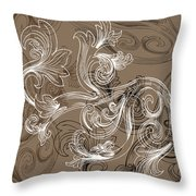 Coffee Flowers 2 Throw Pillow