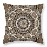 Coffee Flowers 2 Ornate Medallion Throw Pillow