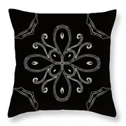 Coffee Flowers 4 Bw Ornate Medallion Throw Pillow