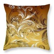 Coffee Flowers 4 Calypso Throw Pillow
