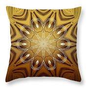 Coffee Flowers 4 Calypso Ornate Medallion Throw Pillow