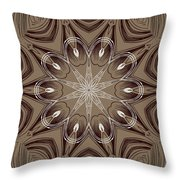 Coffee Flowers 4 Ornate Medallion Throw Pillow