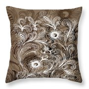Coffee Flowers 6  Throw Pillow