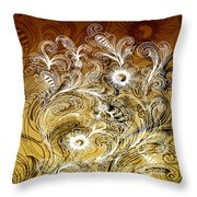 Coffee Flowers 6 Calypso Throw Pillow