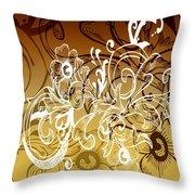 Coffee Flowers 7 Calypso Throw Pillow