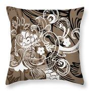 Coffee Flowers 8  Throw Pillow