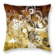 Coffee Flowers 8 Calypso Throw Pillow