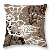 Coffee Flowers 9 Throw Pillow