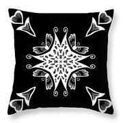 Coffee Flowers 9 Bw Ornate Medallion Throw Pillow