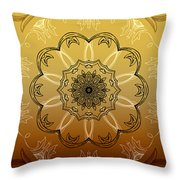 Coffee Flowers Calypso Triptych 4 Vertical Throw Pillow