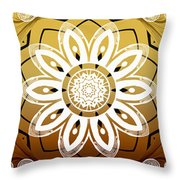 Coffee Flowers Medallion Calypso Triptych 2  Throw Pillow