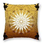 Coffee Flowers Medallion Calypso Triptych 3  Throw Pillow