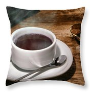 Coffee For The Voyageur Throw Pillow