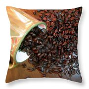Coffee From A Cup Throw Pillow