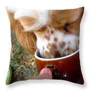 Coffee Hound Throw Pillow