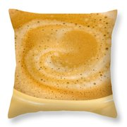 Coffee In Yellow Throw Pillow