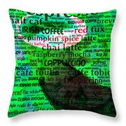 Coffee Lovers Diary 5d24472p108 Throw Pillow