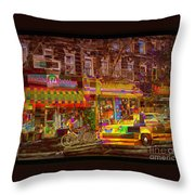 Coffee On The Way Home Throw Pillow