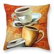 Coffee Over Shannara Throw Pillow