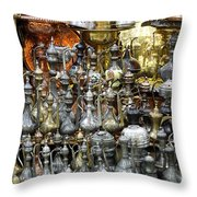 Coffee Pots At The Grand Bazaar In Istanbul Turkey Throw Pillow