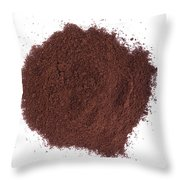 Coffee Powder Throw Pillow