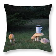 Coffee-rooms Throw Pillow by Donnie Freeman