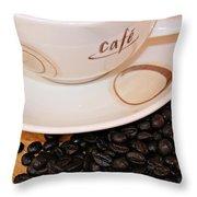 Coffee Rush Throw Pillow