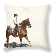 Coffee Saddlebred Throw Pillow