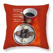 Coffee Season Throw Pillow