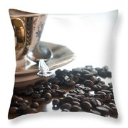 Coffee Seeds Throw Pillow