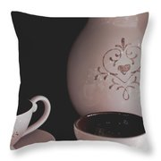 Coffee Service Throw Pillow