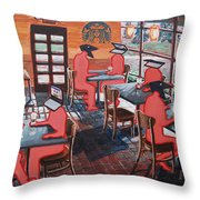 Coffee Shop Culture Throw Pillow