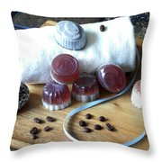 Coffee Soap Throw Pillow