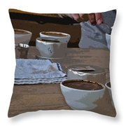 Coffee Tasting Throw Pillow