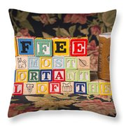 Coffee The Most Important Meal Of The Day Throw Pillow