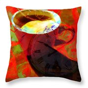 Coffee Time My Time 5d24472m12 Throw Pillow