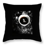 Coffee With Alfred Throw Pillow