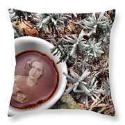 Coffee With Joan Crawford No. 1 Throw Pillow