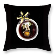 Coffee With The Munsters Throw Pillow